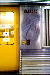 Train tag ([ Kane ]) Tags: art yellow train steel tag australia qld kane tagging qr gledhill kanegledhill brisbanetrain humanhabits wwwhumanhabitscomau kanegledhillphotography