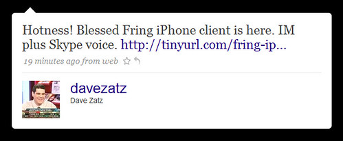 fring for iphone hotness by you.