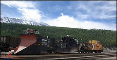 CP RAIL (BCOL CCCP) Tags: old railroad snow canada mountains nature vintage wow rockies taken rocky railway columbia caboose well jordan british plow cpr revelstoke cccp cprail spreader bcol