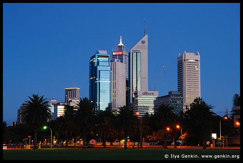 Perth Downtown, Perth, WA, Australia