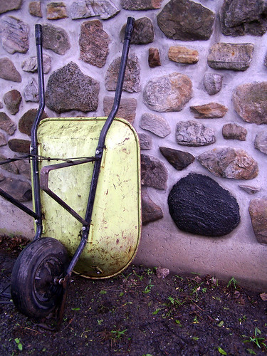 Wheelbarrow on Fieldstone