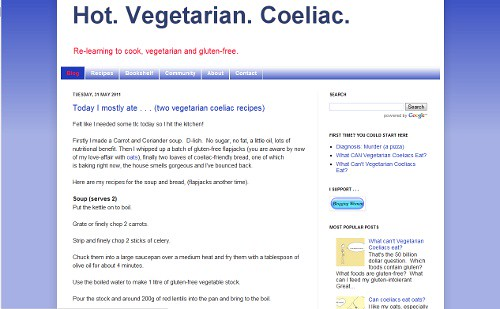 Hot. Vegetarian. Coeliac