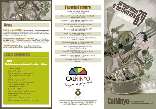 Programa d'activitats Octubre 2007