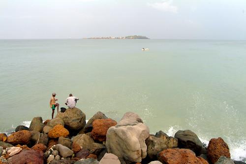 Pescadores en Dakar, Senegal