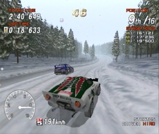 Sega Rally 2 Nieve