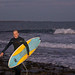 An evening of surfing in October