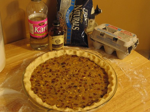 Oatmeal Pecan Pie, before baking