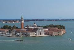 Venezia, l'isola di S. Giorgio vista dal campanile di S. Marco