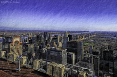 Rockefeller Center Observation Deck North View - Central Park (iceman9294) Tags: newyorkcity searchthebest centralpark manhattan rockefellercenter hdr chriscoleman essexhouse mywinners iceman9294