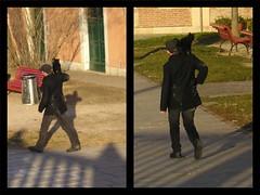 Compagni (** Manu_Ela1979 **) Tags: man blackcat uomo passeggiata inseparabili gattonero compagni
