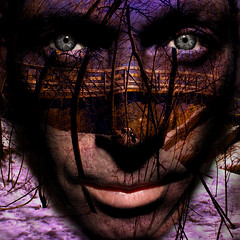 night_bridge_eyes (ViaMoi) Tags: art face digital photoshop eyes creative layers s2 manipulate viamoi s2blend s2wapsviamoi s2wrapsbyviamoi