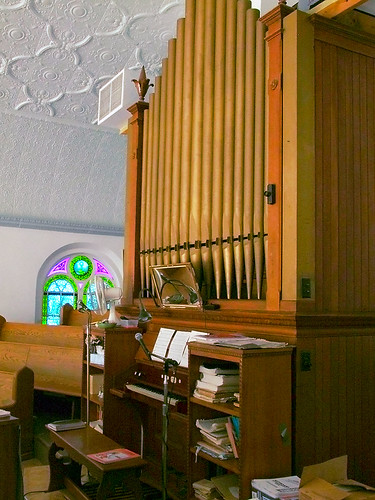 Saint Joseph Roman Catholic Church, in Apple Creek, Missouri, USA - pipe organ