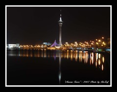 Macau Tower (RicZaf) Tags: night macau d80 lights reflections aplusphoto worldtraveller teampilipinas flickrdiamond diamondclassphotographer mywinnersaward heartaward aaward superaaward worldtrekkeraward diamondaward theunforgettablepicturegroup colourartaward