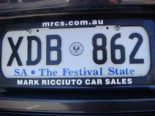 License Plate. Australia.