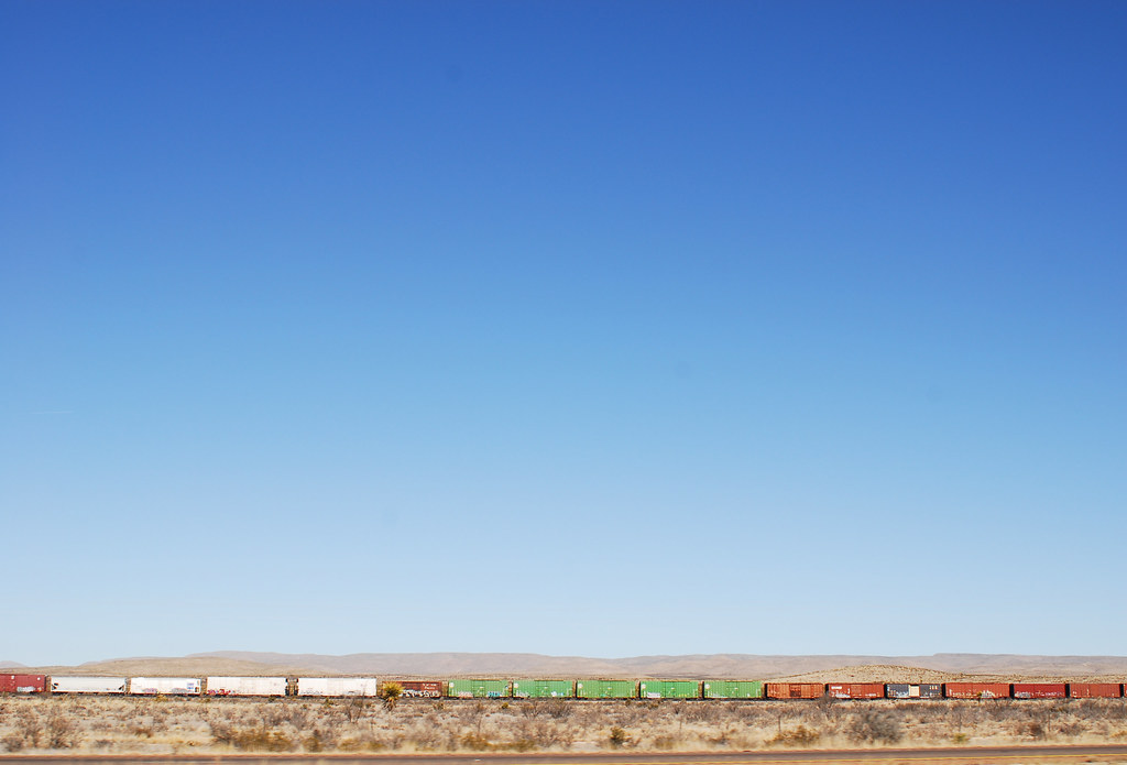 Train in West Texas