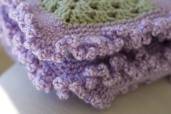 Granny Square Baby Blankey - edging