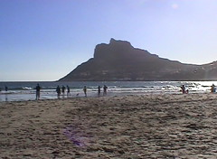keuvelen op strand