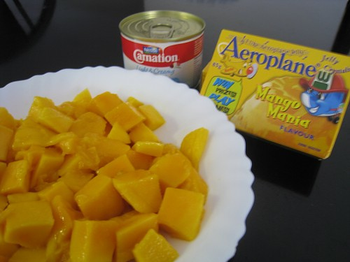 Mango Pudding Ingredients 芒果布甸用料
