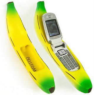 Telefone celular com capa de banana
