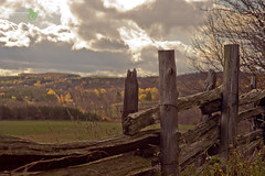 Barn Board Fence (2) (Rock Steady Images) Tags: autumn ontario canada fall barn canon fence eos 350d rebel xt hiking board 200views 500views 50views brucetrail supershot 25views honeywood sigma1770mmf2845dcmacro 7pointsystem bypaulchambers rocksteadyimages