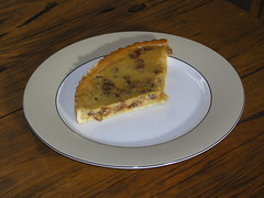 Sour cream, orange and raisin pie