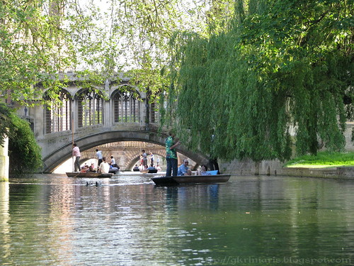 Punting in river Cam, Cambridge