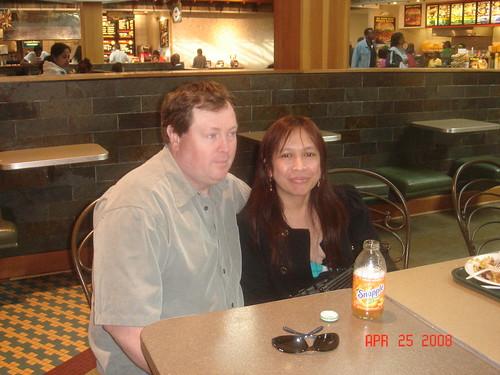 Joan Cordova with Husband