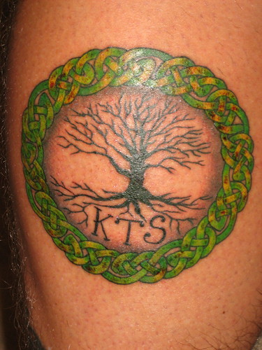 celtic tree of life tattoo. It is a Celtic Tree of Life.