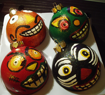 vintage-inspired halloween ornaments
