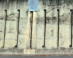 []llllll (Scribbles With Cameras) Tags: road vertical metal horizontal wall square concrete picasa line kerb recesses scribbleclick haphazartwideemptyspaces