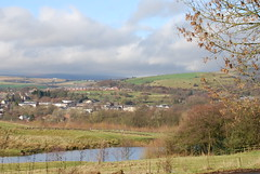 Blue skies over Littleborough (Halliwell_Michael ## Thanks you for your visits #) Tags: littleborough lancashire hollingworthlake nikond40x 2017 winter landscape pennineviews hills penninehills trees clouds blue