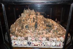Diorama made entirely of sea shells