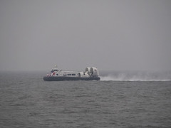 Hovercraft Island Flyer in foggy Solent - GH 2161 (fstop186) Tags: hovercraft islandflyer hovertravel fog portsmouth ryde isleofwight gh2161 solent