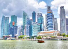 Unpredictable Weather in Singapore (sightmybyblinded) Tags: singapore cityscape city urban travel skyscraper singaporeriver marinabaysingapore