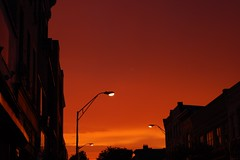 Nyack Sunset (seanjonesfoto) Tags: light sunset sky orange ny color silhouette night d50 evening nikon dusk vibrant nyack