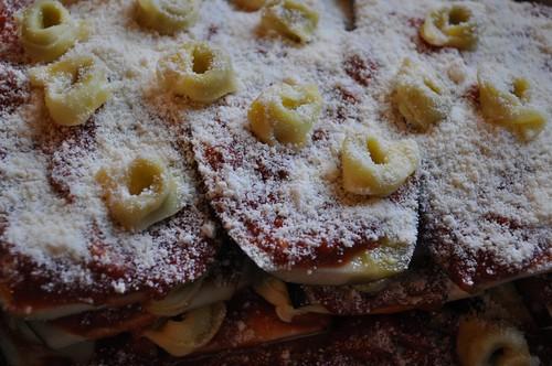 Eggplant parmesan a la Barilla Tortellini
