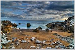 Usgo (Cantabria - Spain) (JoseLMC) Tags: ocean sea espaa paisajes naturaleza beach nature water landscape coast mar spain sand agua nikon natural playa paisaje arena oceans hdr cantabria oceano baha cantbrico d80 miengo mywinners ostrellina