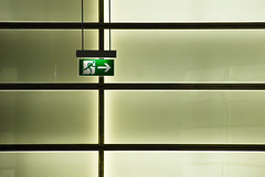 Go right for the emergency exit (manganite) Tags: light signs abstract color berlin green texture geometric colors lines wall digital buildings germany underground subway geotagged interestingness nikon europe pattern metro tl platz potsdamer atmosphere explore symmetric d200 exit subwaystation minimalism nikkor dslr emergency minimalistic 10faves i500 interestingness361 18200mmf3556 utatafeature manganite nikonstunninggallery date:year=2007 geo:lon=13376176 geo:lat=52508738 date:month=september date:day=28 format:ratio=32 stadtgetty2010