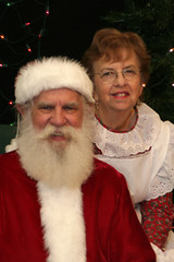 Santa and Mrs. Claus, David and Sandy Bates