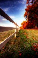 Follow the white fence (dfworks) Tags: autumn fall field canon fence vanishingpoint farm hdr orton 30d themoulinrouge 3xp photomatix sigma1020 maxatawny platinumphoto anawesomeshot aplusphoto goldenphotographer diamondclassphotographer platinumheartaward