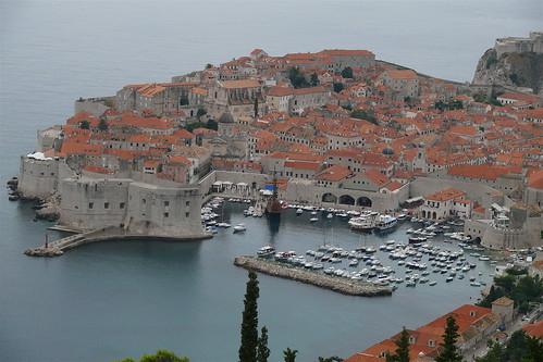 Dubrovnik óvárosa távolról