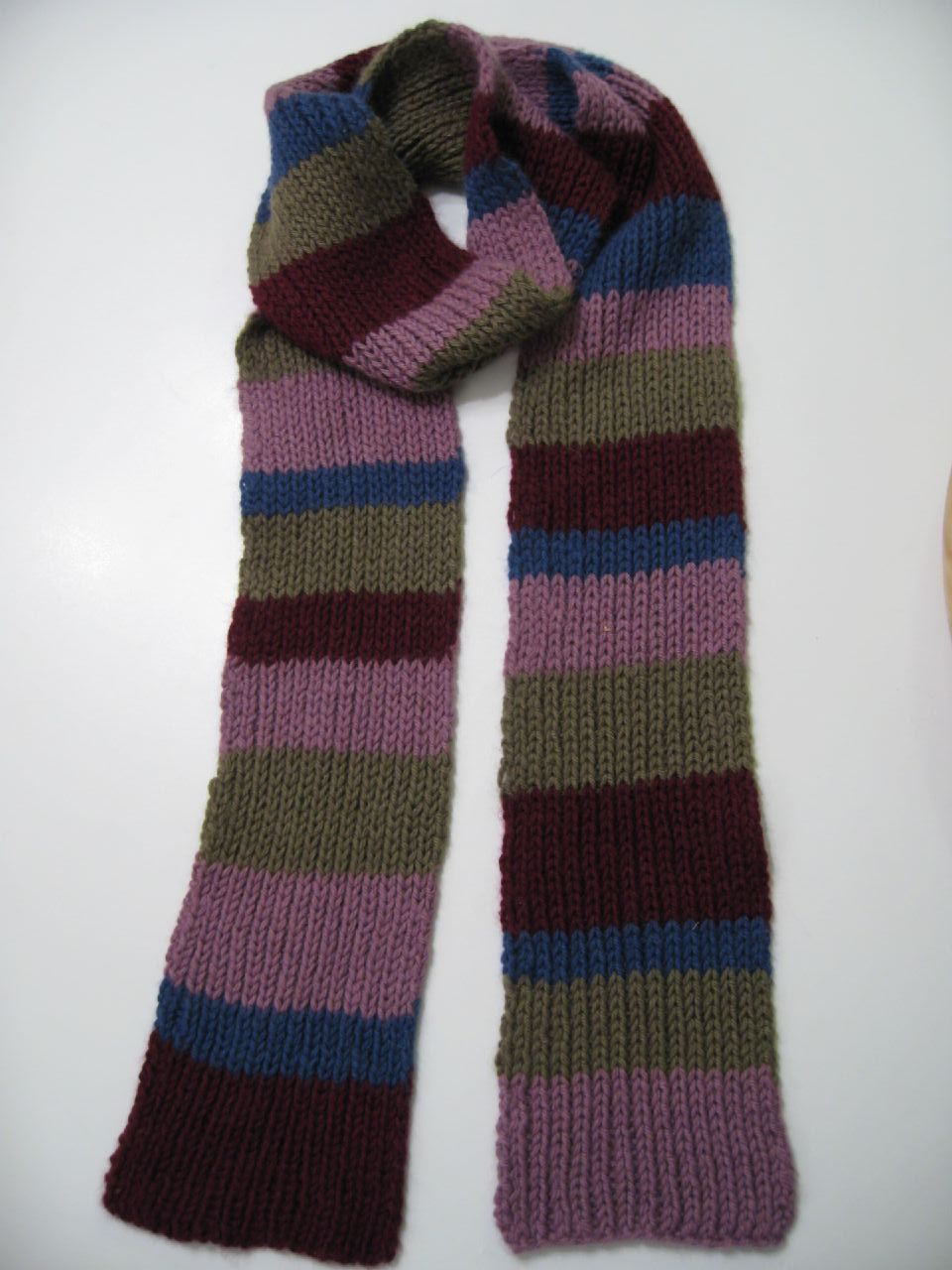 Main Street Fair Isle leftovers scarf