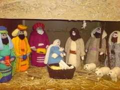 Woolen Nativity Scene