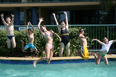 Jump! January 2007 (ameliatzeni) Tags: family school holiday pool kids swim fun high jump jumping gaby cousins lol adriana australia musical trent amelia bianca winnie milly ged highschoolmusical atzeni abigfave millyatzeni ameliatzeni ameliaatzeni likehighschoolmusical