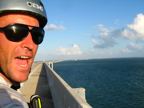 Top of Seven Mile Bridge in the Florida Keys, USA