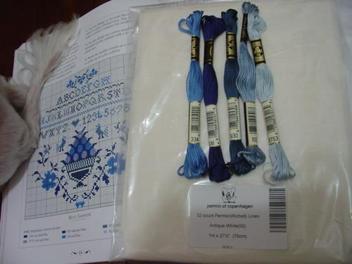Blue Sampler