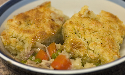 Turkey Potpie with Cheddar Biscuit Crust | two yolks