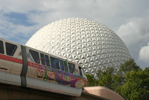Monorail & Spaceship Earth at Epcot