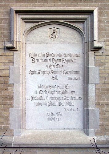 Former Vincentian Seminary, in Perryville, Missouri, USA - Latin inscription