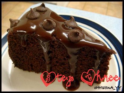 Triple Choco Cake - Step 3